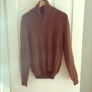 Jos. A. Bank Cable-Knit Gingerbread-Brown Sweater